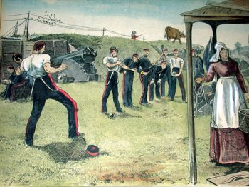 Military drill at Fort York 1876. The Friends of Fort York.